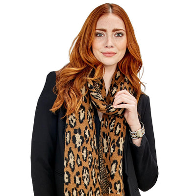 Change Your Spots Woven Leopard Reversible Scarf