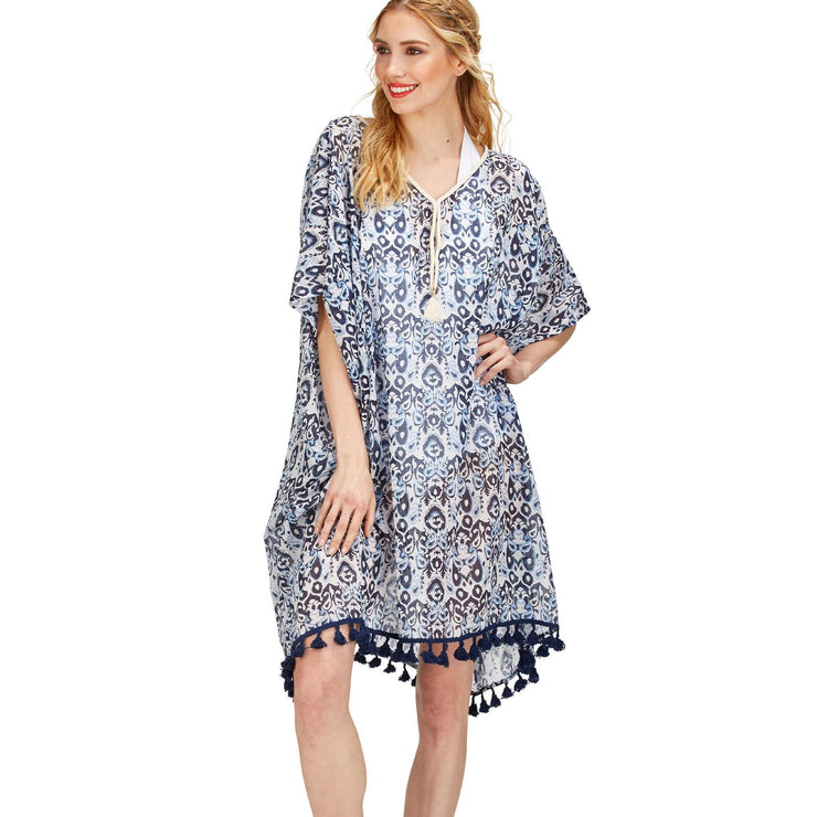Paisley Tunic with Tassels and Rope Detail