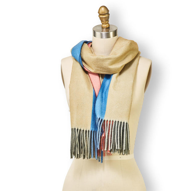 Multicolor Scarf with Fringe