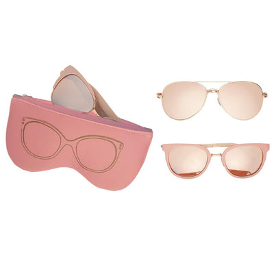 Rose Gold Sunglasses w/ Case