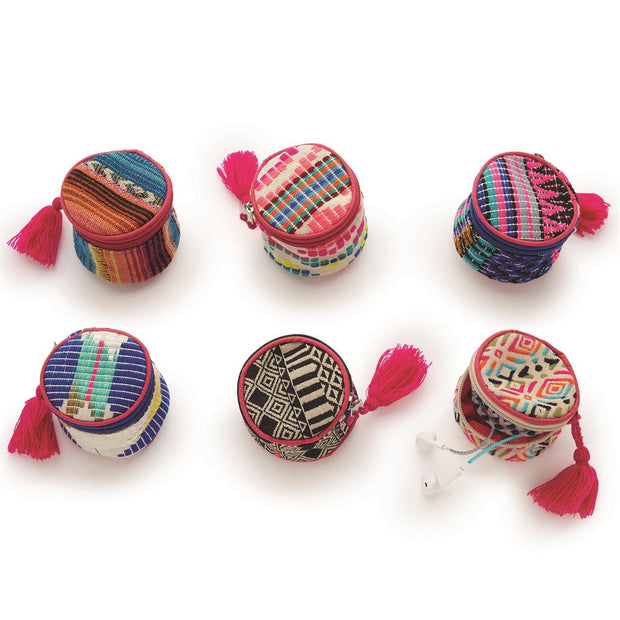 Multicolored Round Jewelry Pouch