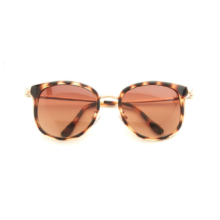Tortoise Frame Sunglasses with Pouch