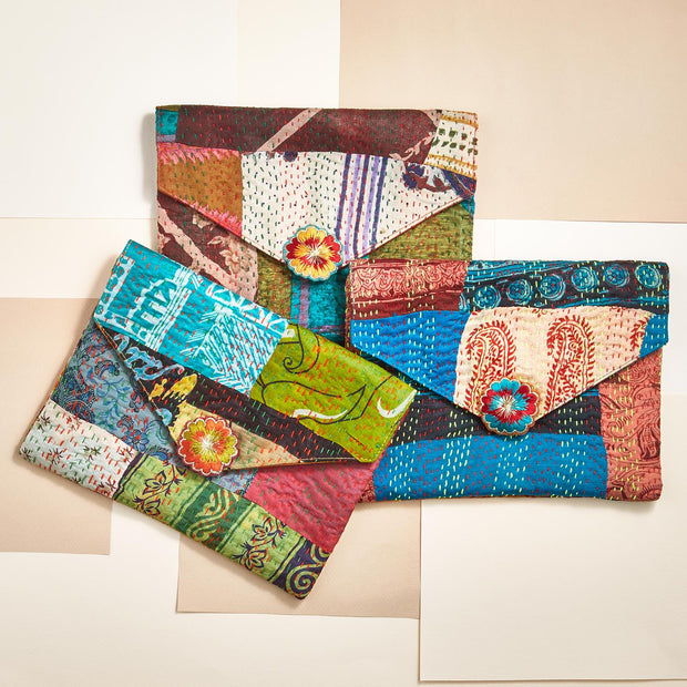 Kantha Envelope Bag