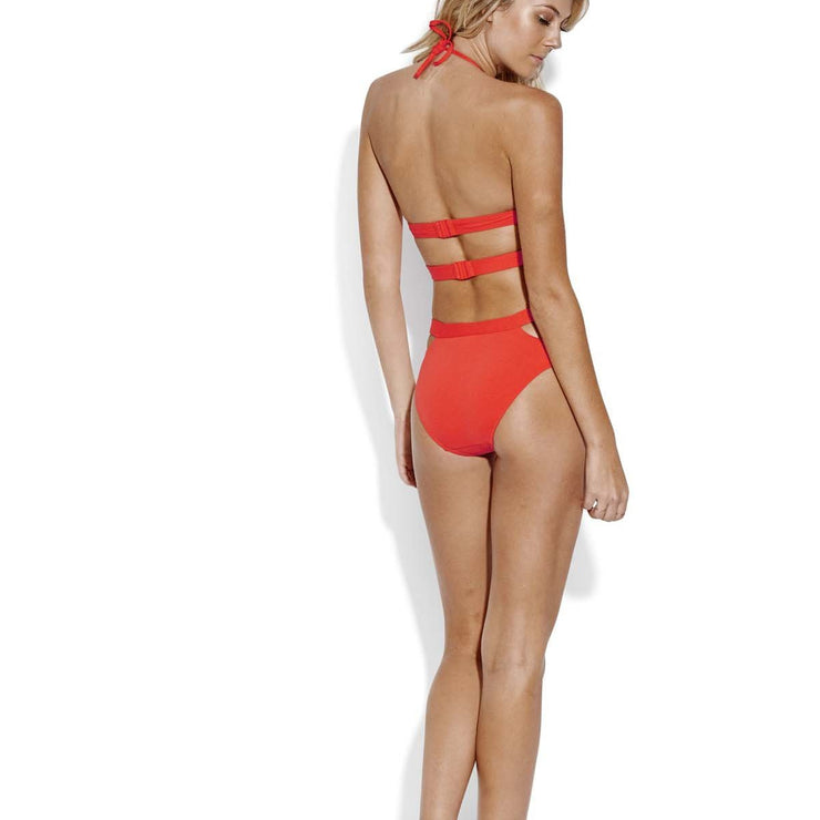 Solid Active Split Band Hipster Bikini Bottom