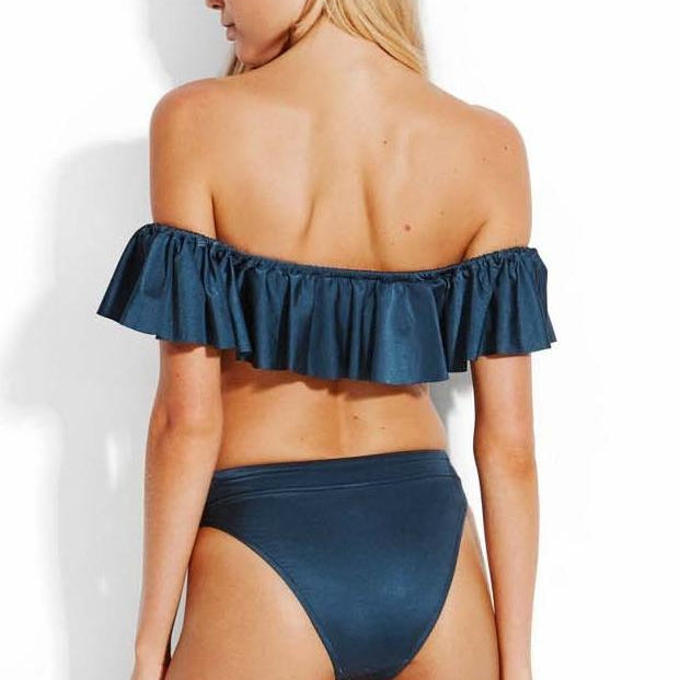 Shine On Cold Shoulder Bandeau Bikini Top
