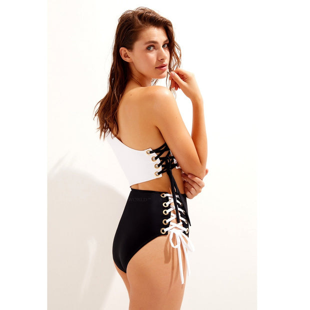 Kim Lace Up One Piece