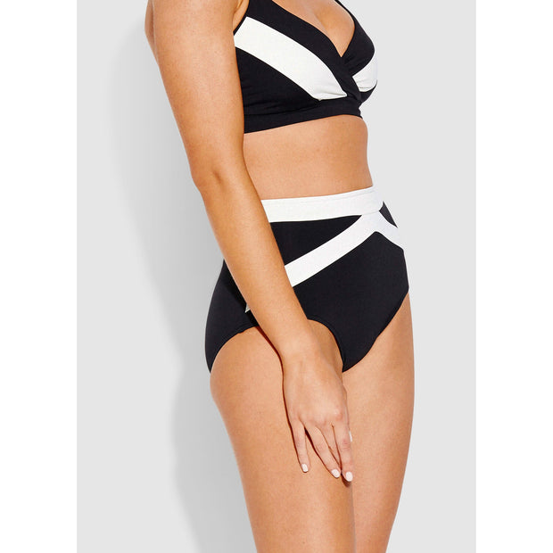Pop Block High Waisted Bikini Bottom