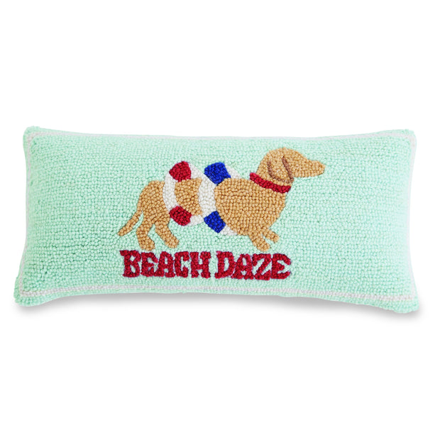 Beach Dazed Hooked Pillow