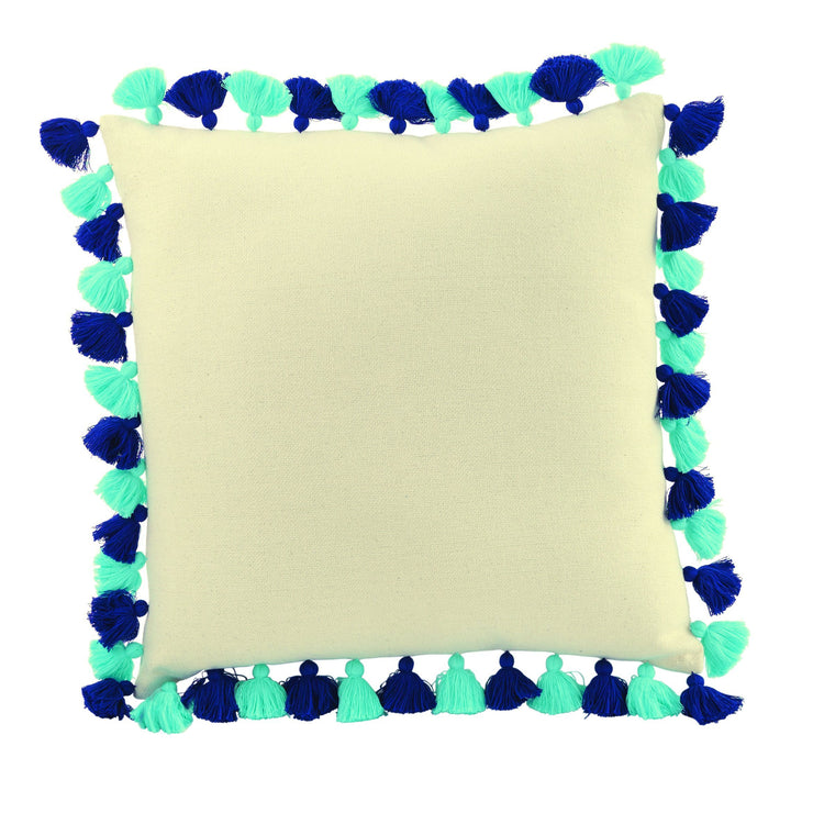 Tassel Canvas Square Pillow