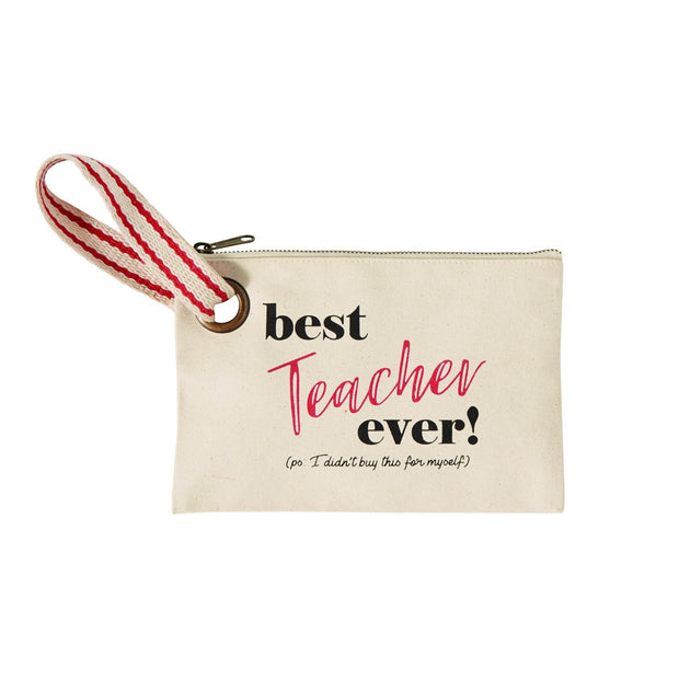 Teacher Canvas Pouch