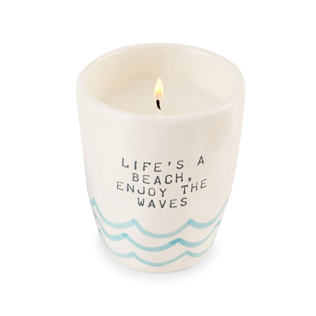 Ombre Beach Themed Candle