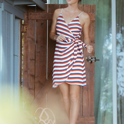 Americana Stripe Silence Dress