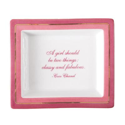 """A Girl Should Be Classy And Fabulous"" Tray in Gift Box"
