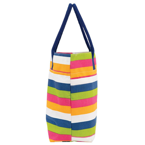 Coastal Stripe Large Beach Tote