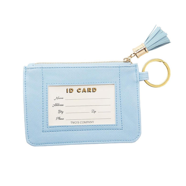 Travel ID Pouch with Tassel and Keyring