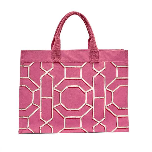 Chinoiserie Canvas Tote Bag