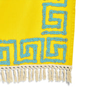 Greek Key Tufted Cotton Throw