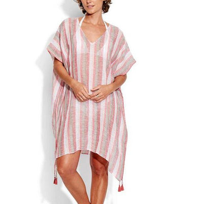 One Size Vertical Stripe Kaftan