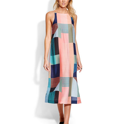 Modern Art Slip Dress