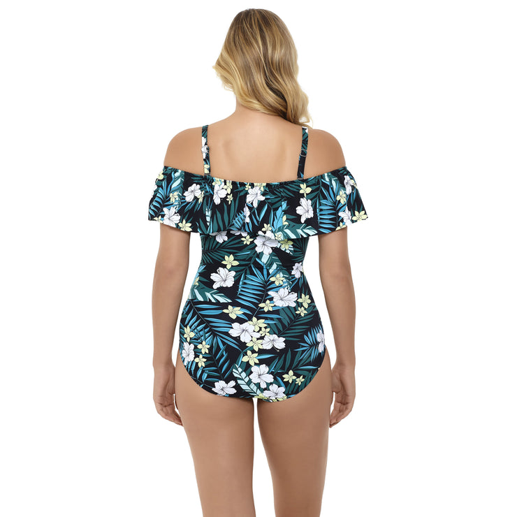 Jungle Exotic Off Shoulder One Piece