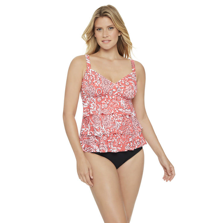 Mix It Up 2 Tier Tankini Top