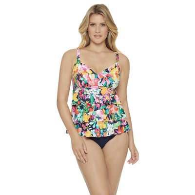 Tropical Beauty 3 Tier Fauxkini One Piece