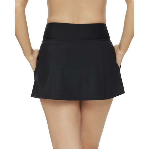 Solid Yoga Waist Swim Skirt