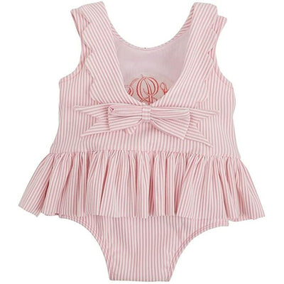 Baby Pink Scallop Seersucker Swimsuit