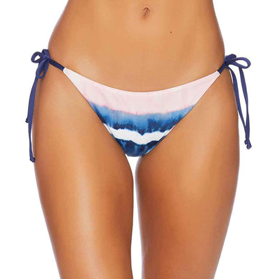 Tie Dye Stripe Reversible Side Tie Bikini Bottom