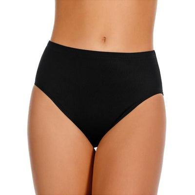 Solid Basic Core Tummy Control Swim Bottom