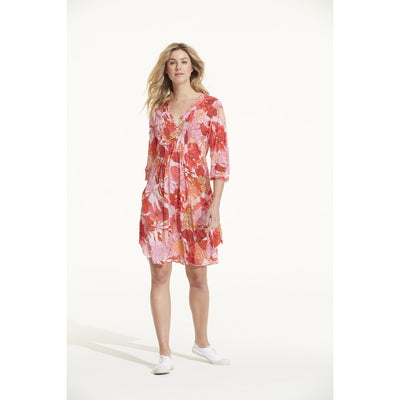 Valencia Cotton Middy Poppy Dress