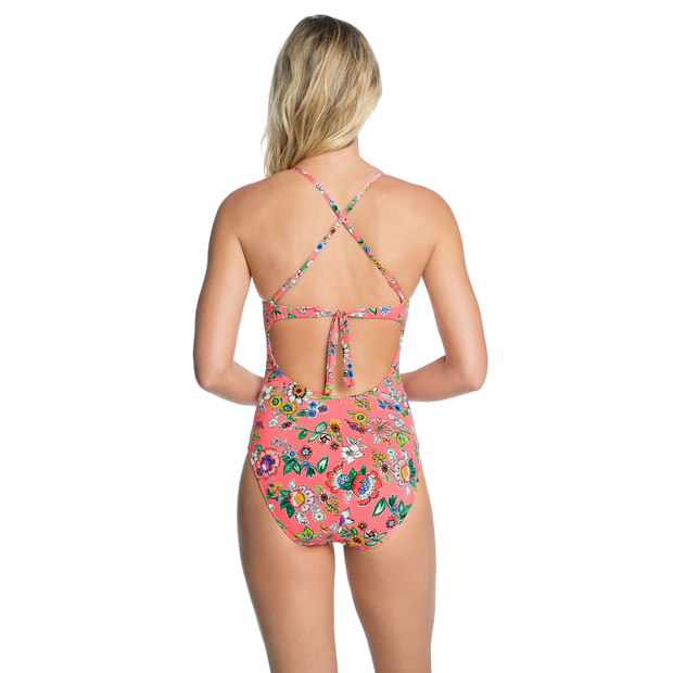 Pink Floral Sadie Reversible One Piece