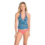 Ocean Scroll & Sea Turtles Tankini Top