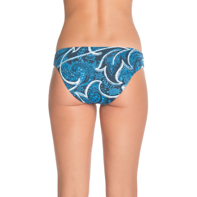 Ocean Scroll & Sea Turtles Ella Reversible Bikini Bottom