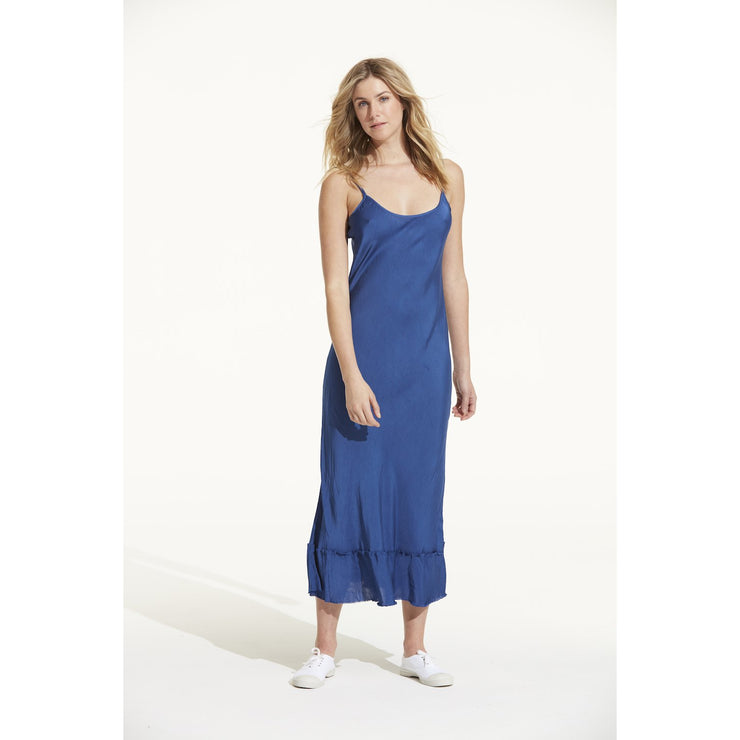 Cupro Blossom Slip Dress