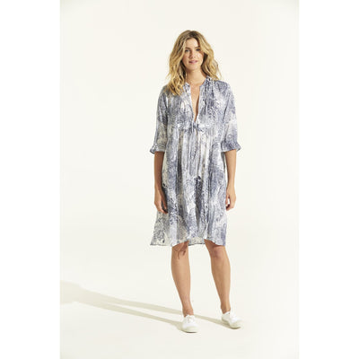 Indigo Antibes Cotton Audrey Dress