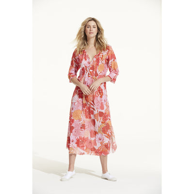 Valencia Cotton Long Poppy Dress