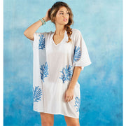 Elsa Boucle Blue Coral Cover Up