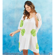 Elsa Boucle Green Leaf Cover Up