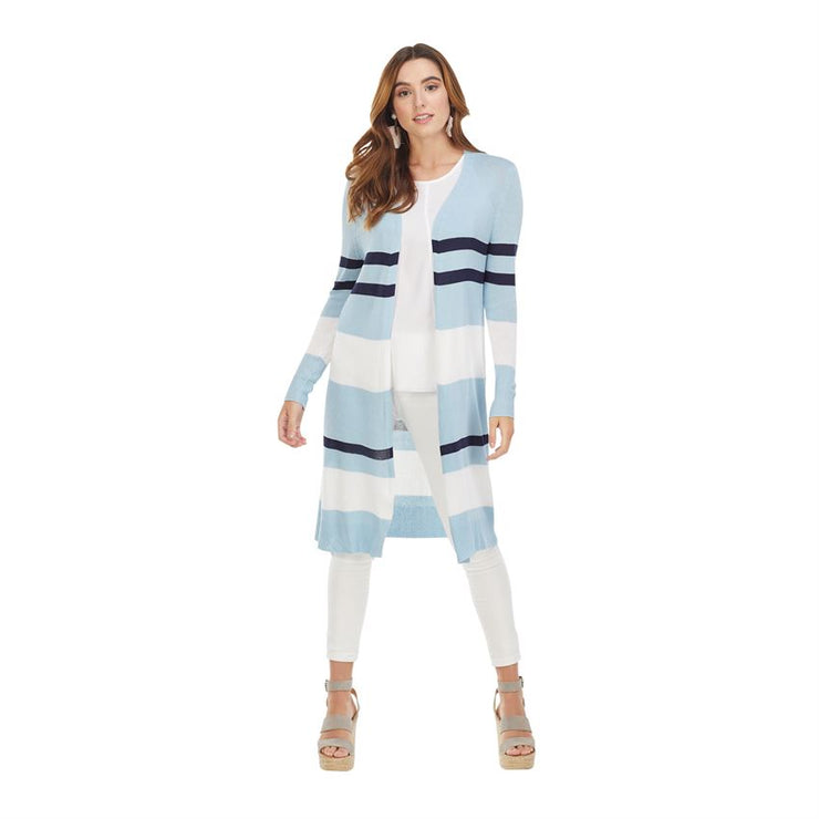 Blue Vince Striped Cardigan