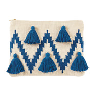 Chevron Tassel Clutch