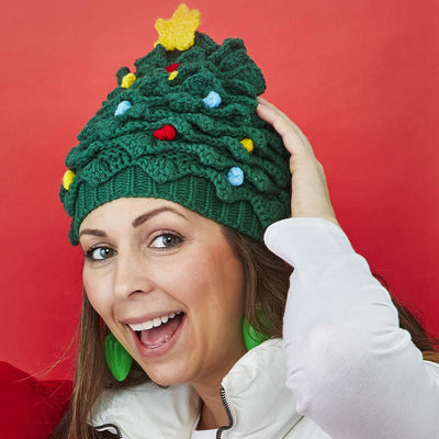 Christmas Tree Crocheted Hat
