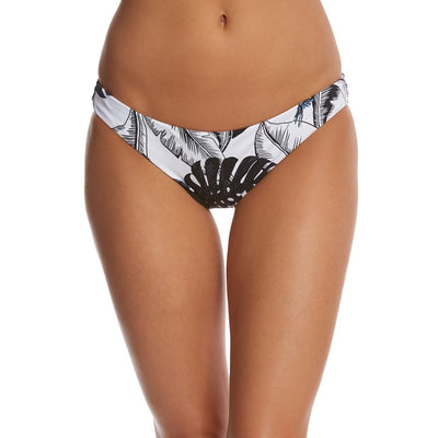 Black and white palm leaves bikini bottom