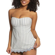 Sea Stripe Easy Fit C/D Bandeau Singlet Tankini Top
