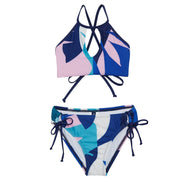Girls Lovina High Neck Bikini Set