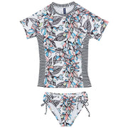 Girls Flower Hour Rashguard Set