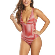 Ella Moss straight & narrow one piece red velvet