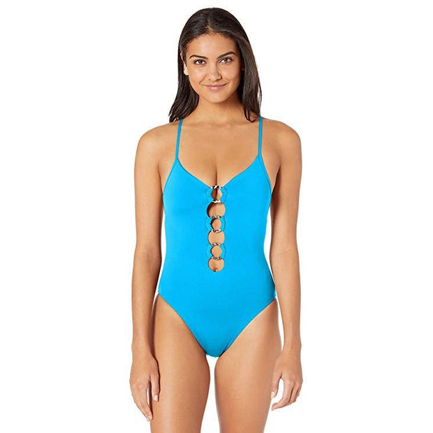 Solid Active Ring Front Maillot One Piece