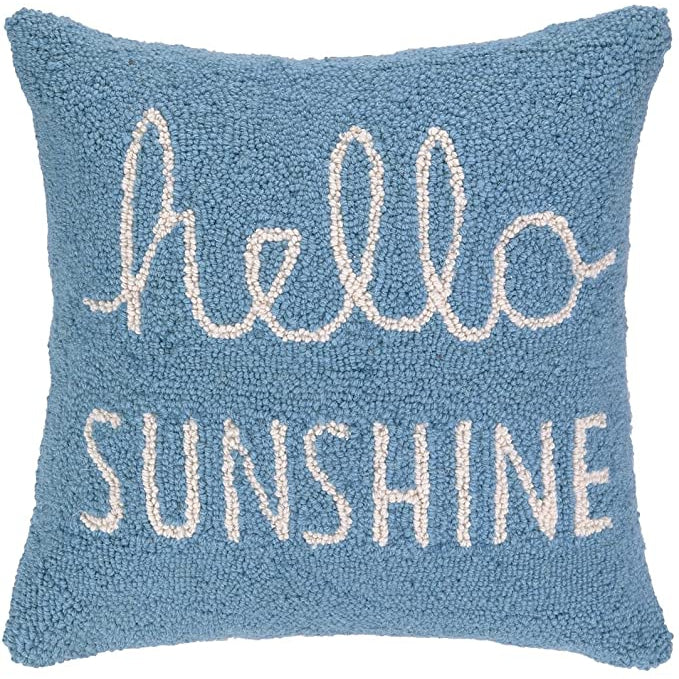 """Hello Sunshine"" Hook Pillow"