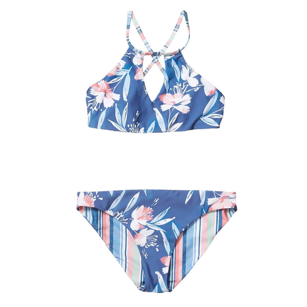 Girls Painted Desert High Neck Bikini Set